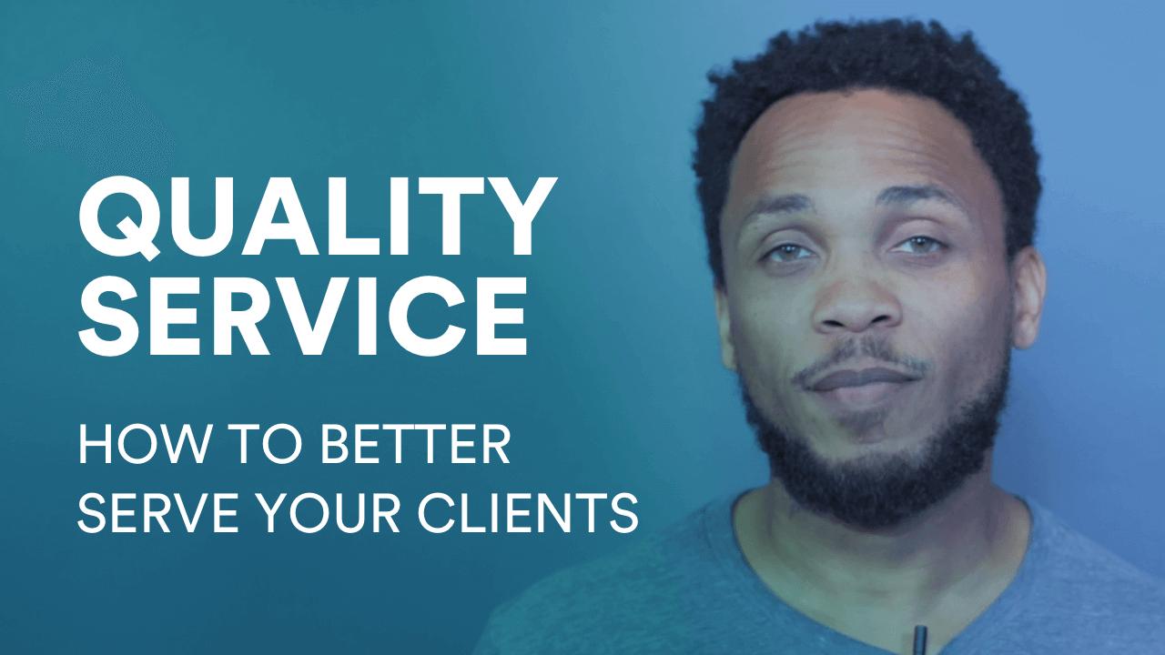 Serving your client better video image Anticio Duke